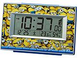 ミニオンズ デジタル電波目覚まし時計 8RZ221ME04