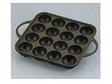 元祖ヤキヤキ屋台 アルミ鋳物たこ焼器 (16穴) YR-4259