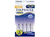 充電式IMPULSE 充電器セット(単3形「IMPULSE」min.2400mAh 4本付) TNHC-34AH 【厚さ14.5mm(最薄部)】
