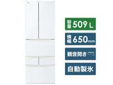 【11/中旬発売予定】【基本設置料金セット】 6ドア冷蔵庫 GR-R510FK(EW) グランホワイト
