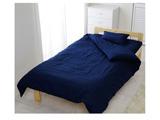 カラー掛ふとんカバー シングルサイズ(綿100%/150×210cm/ネイビー)