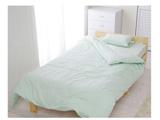 カラー掛ふとんカバー シングルサイズ(綿100%/150×210cm/パステルグリーン)