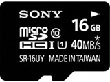 SR-16UYA (microSDHCカード/16GB/Class10/UHS Speed Class1対応/SDHC変換アダプタ付/最大転送速度40MB/秒) [マイクロSD]