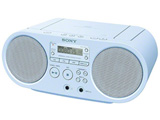 CDラジオ(ラジオ+CD)(ブルー) ZS-S40 LC【ワイドFM対応】