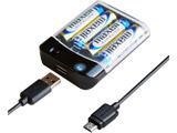 電池式充電器 USB1P 1A micro 50cm AJ-532