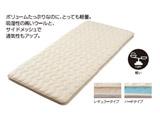 西川 さわやかメッシュ軽量敷ふとん レギュラータイプ シングルロングサイズ(100×210cm/アイボリー) KNN2054100