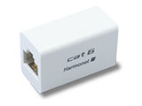 カテゴリー6対応 中継アダプタ(ホワイト・1個入) HLA-T-SAP-6-WH