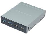 3.5インチベイ用 USB3.0/2.0フロントパネル PF-004A