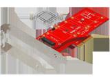 NVMe SSD 冷却用ヒートシンク付き M.2 SSD変換 PCI-Expressカード OWL-PCEXM2-03