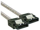 SATA3.0ケーブル ストレート-ストレート 50cm 1年保証 OWL-SATA-SS5SL シルバー