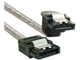 【在庫限り】 SATA3.0ケーブル ストレート-下L 20cm 1年保証 OWL-SATA-SLU2SL シルバー