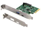 PCI-Express接続 高速USB3.1(Gen2) USB Type-A/USB-C(Type-C) インターフェースボード OWL-PCEXU31C1