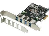 インターフェースボード USB-A 3.0x4[PCI-Express] ロープロファイル対応 OWL-PCEXU3E4LS