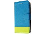 iPhone SE / 5s / 5用 kuboq 合皮 手帳型ケース ブルー/グリーン OWL-CVIP5SE01-BLG スタンド機能 ポケット・ストラップホール付