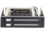 3.5インチベイ内蔵専用HDDケース 2.5インチSSD/HDDを2台簡単増設 ガチャポンパッダイレクト ブラック OWL-IE322B