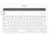 【スマホ/タブレット対応】ワイヤレスキーボード[Bluetooth・Android/iOS/Mac/Win/Chrome] マルチデバイスキーボード (84キー・ホワイト) K480WH