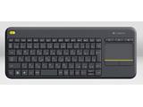 ワイヤレスキーボード ワイヤレス タッチキーボード k400 Plus タッチパッド搭載 (84キー・ブラック) K400pBK