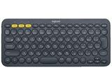 【スマホ/タブレット対応】ワイヤレスキーボード[Bluetooth3.0] K380 マルチデバイス (84キー・ブラック) K380BK