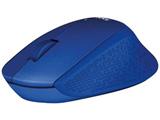 ワイヤレス光学式マウス[2.4GHz USB・Mac/Win/Chrome] 静音 (3ボタン・ブルー)  M331BL