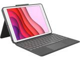 10.2インチ iPad(第7世代)用 トラックパッド付キーボードケース COMBO TOUCH グラファイト iK1057BKA