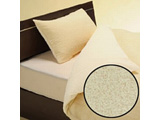 綿マイヤーワンタッチシーツ  ダブルサイズ(綿100%/145×215cm/アイボリー) 【日本製】