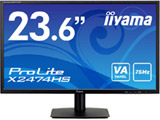 ProLite X2474HS(マーベルブラック) 23.6型ワイド LEDバックライト搭載液晶モニター[1920×1080/VA/DisplayPort・HDMI・VGA]