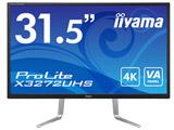ProLite X3272UHS 31.5型ワイド4K対応液晶モニター [3840×2160/VA/DisplayPort×2・HDMI×2] ノングレア
