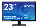 ProLite XU2390HS-3 23型ワイド液晶ディスプレイ マーベルブラック[1920×1080/AH-IPS/HDMI・DVI-D・VGA] XU2390HS-B3