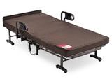 【折りたたみベッド】収納式電動リクライニングベッド (Wファンクション) ・ 1モーター AX-BE634N(シングルサイズ)