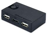 HDMIディスプレイ対応 USBシンプル切替器(2台用) REX-230UH