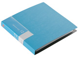 BSCD01F12BL (CD/DVDファイル/ブックタイプ/12枚収納/ブルー)