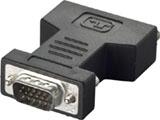 BSDCDE02 (変換アダプター/HD-D-Sub(オス)⇔DVI-I(メス)/ブラック) [EU RoHS指令準拠]