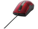 有線マウス[BlueLED・USB 1.5m・Mac/Win] BSMBU26SSシリーズ 静音 Sサイズ (3ボタン・レッド) BSMBU26SSRD 【Windows10動作対応】