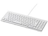 有線キーボード[USB 1.5m・Win] スタンダード BSKBU14シリーズ スリム (102キー・ホワイト) BSKBU14WH 【Windows10動作対応】