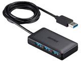 USB3.0ハブ[4ポート・バス&セルフパワー・Mac/Win] セルフパワータイプ マグネット付 ブラック BSH4A08U3BK