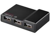 USB2.0ハブ [節電機能付き]  ACアダプター付 (4ポート・セルフ&バスパワー・Mac/Win) ブラック BSH4AE12BK