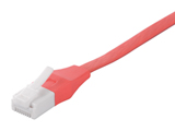 ツメの折れないLANケーブル カテゴリー6 ストレート フラットタイプ (ピンク・3m) BCLS6F30PK