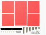 【ミニ四駆】ミニ四駆グレードアップパーツ No.492 ブレーキスポンジセット(1/2/3mm レッド)[15492]