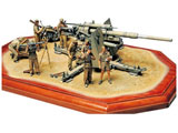 """1/35 ミリタリーミニチュアシリーズ No.283 ドイツ 88ミリ砲 Flak36 """"北アフリカ戦線"""""""