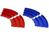 【ミニ四駆】ミニ四駆サーキット ミニ四駆 ジャパンカップ ジュニアサーキット カーブ(青/赤) 各2枚セット