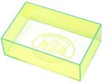 【ミニ四駆】ミニ四駆特別企画 ミニ四駆 チェックボックス(全長・最大幅)ネオングリーン