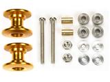 【ミニ四駆】ミニ四駆特別企画 軽量2段アルミローラーセット(13-12mm ゴールド)