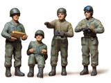 1/35 ミリタリーミニチュアシリーズ No.4 アメリカ戦車兵セット[スケール特別販売商品]