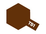 タミヤカラースプレー TS-1 レッドブラウン (つや消し)