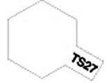 タミヤカラースプレー TS-27 マットホワイト (つや消し)