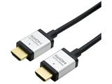 1.0m 4K60p/18Gbps伝送対応 HDMIケーブル (HDMI⇔HDMI) ブラック HDC-P10/BK