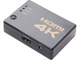 HDMIセレクター [3ポート/4K対応/ケーブル付属/自動切換対応] HDS-4K03