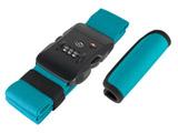 TSAロック付スーツケースベルト ハンドグリップ付 MBZ-MZ03/BG ブルーグリーン