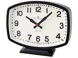 【在庫限り】 ヴィンテージデザインテーブルクロック アナログ2針時計モニーツBK T-705BK-Z