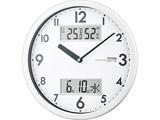 温度・湿度計付き掛け時計 W-631WH